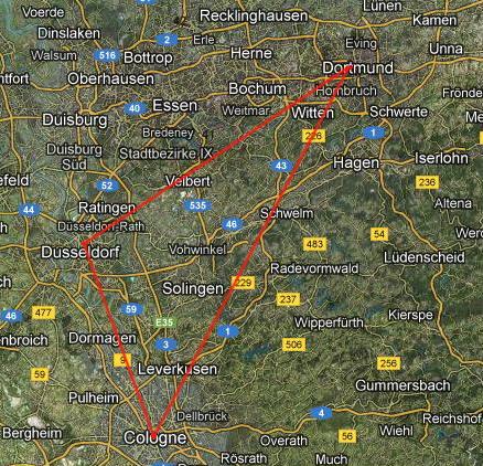 mapa nemacke dortmund Zapadno nemacki trougao   Dortmund, Keln, Dizeldorf   putopis  mapa nemacke dortmund